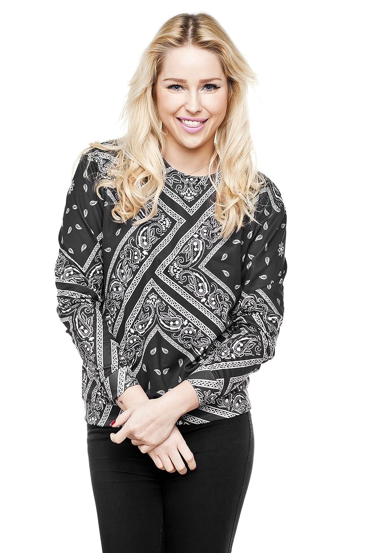 Fringoo Mens Print Sweatshirt 3D Pullover Yoga Long Sleeve Jumper Gugu Top One Size Fits S//M Bandana
