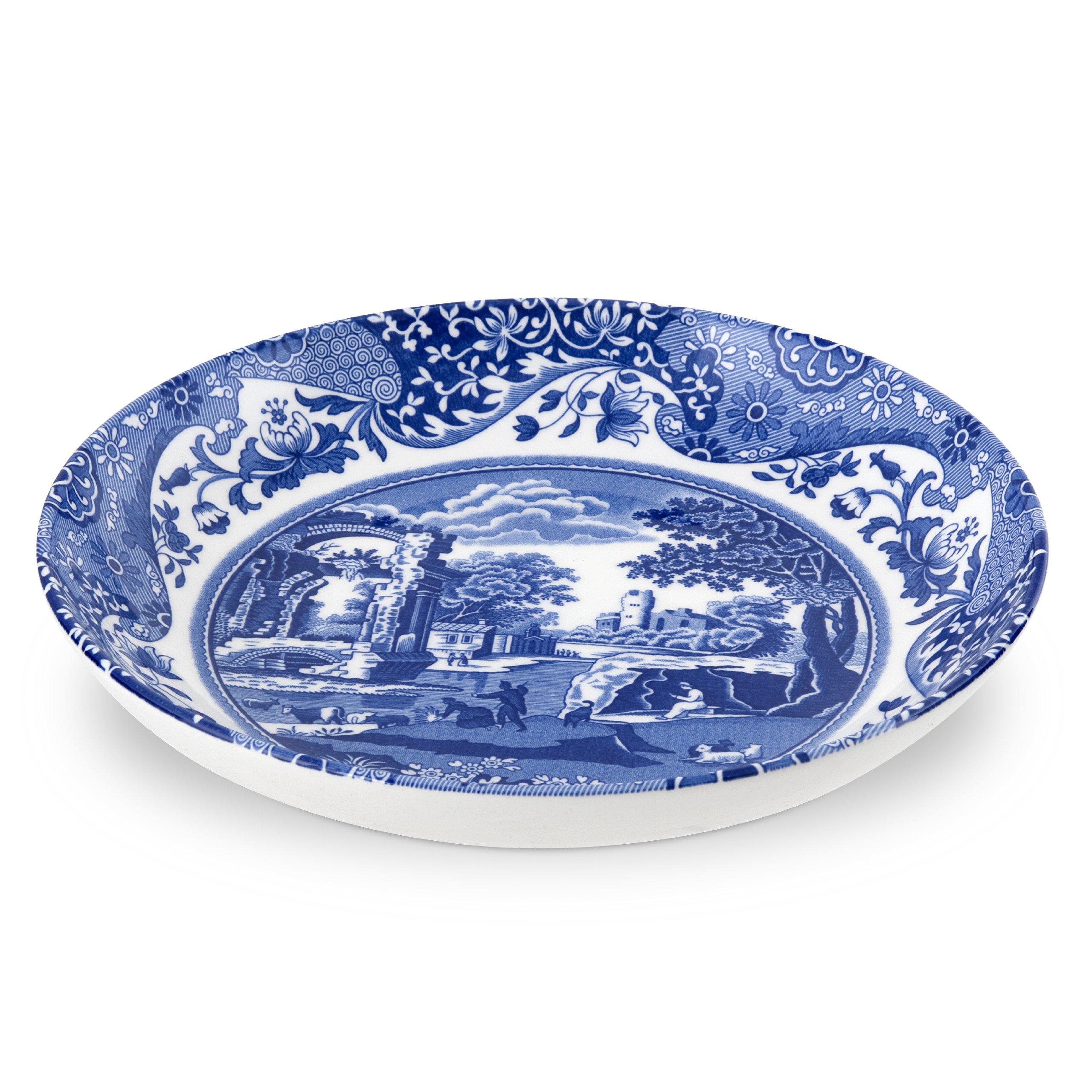 Spode 749151490451 Italian Pasta Bowl, Set of 4, Blue, White, 9'' Pasta Bowl