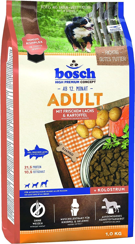 Comida seca para perros adultos de todas las razas con Salm/ón fresco y Patata 1 kg bosch HPC Adult