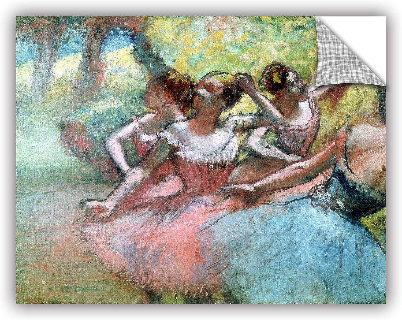 ArtWall Edgar Degass Four Dancers Art Appeelz Removable Wall Art Graphic 18 x 24