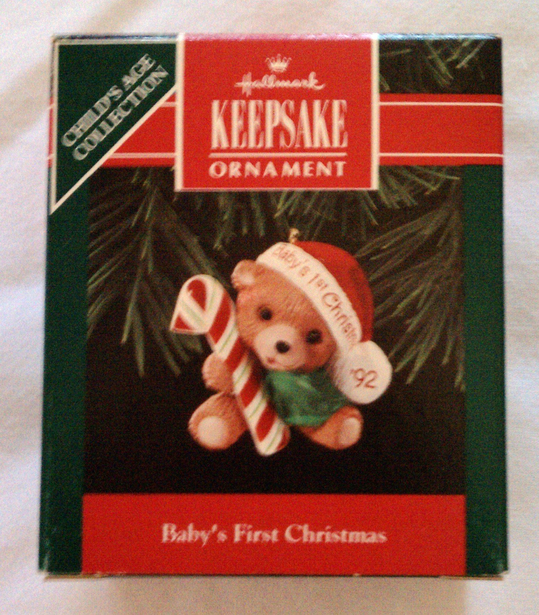 Hallmark 1992 Baby's First Christmas Keepsake Ornament QX4644