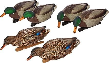 Green 6 Pack AvianX Top Flight Duck Back Water Mallard Decoy