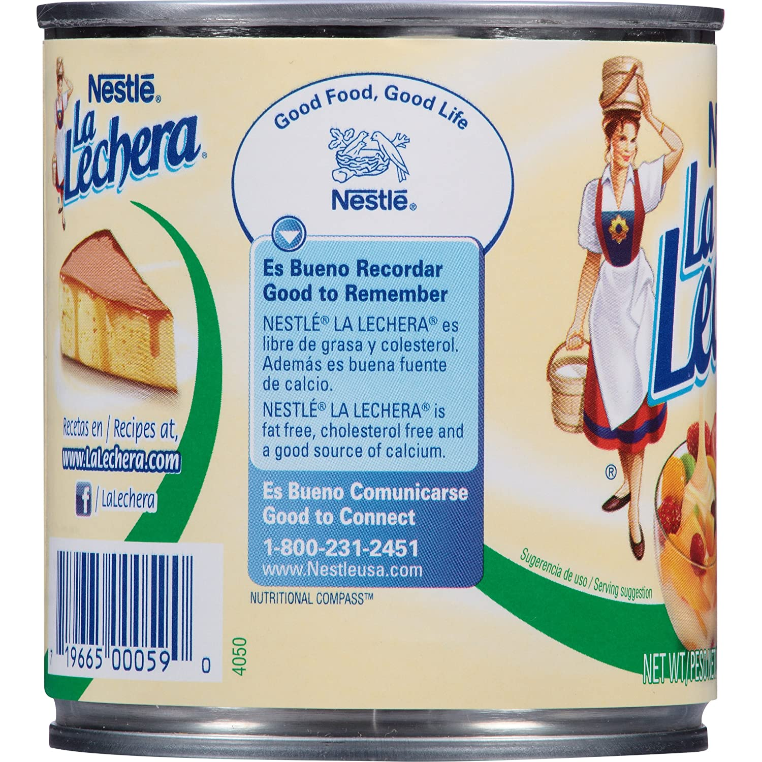 Amazon.com : Nestle La Lechera Fat Free Sweetened Condensed Milk, 14 ...