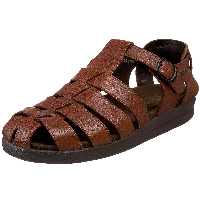 Mephisto SAM MAMOUTH 714 BLACK P1400308 - Sandalias de cuero para hombre 41 EU|Brown