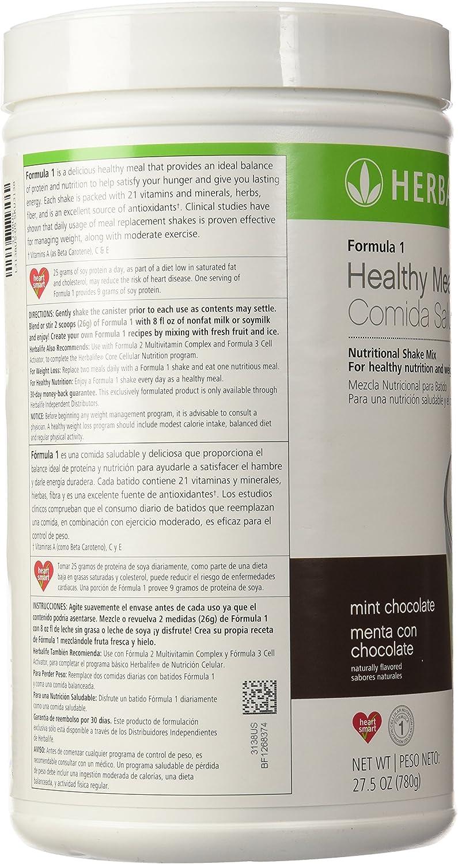 Herbalife Formula 1 BATIDO NUTRICIONAL SABOR CHOCOLATE Y MENTA