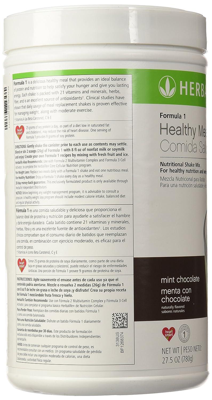 Herbalife Formula 1 Nutritional Shake Mix Mint Makarimshirt Coklat Susu Chocolate 172 Lb Health Personal Care