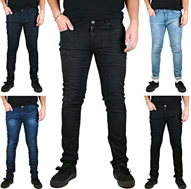 ea4b1362 EJUrbanWear Mens Skinny Stretch Jeans Slim FIT Denim Jeans Trousers:  Amazon.co.uk: Clothing