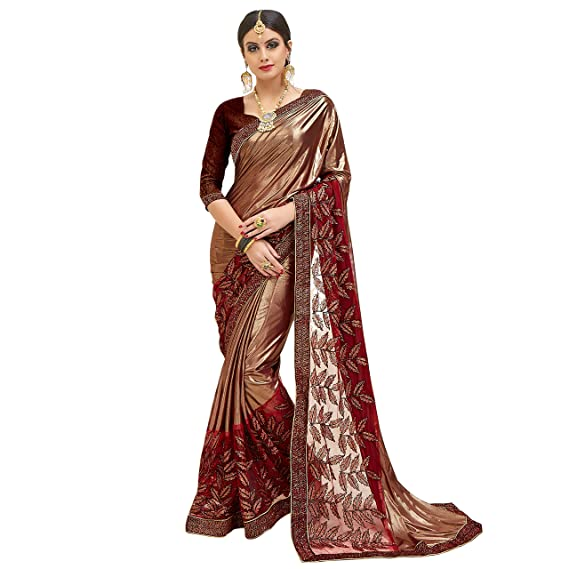 85215c02c Being Banarasi Women's Net & Malai Silk Saree with Blouse Piece(Free Size) (