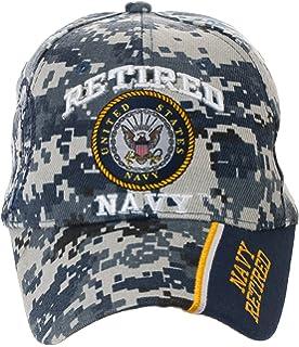 db6b576e8adda Amazon.com   USA Retired Navy Baseball Style Embroidered Hat Blue ...