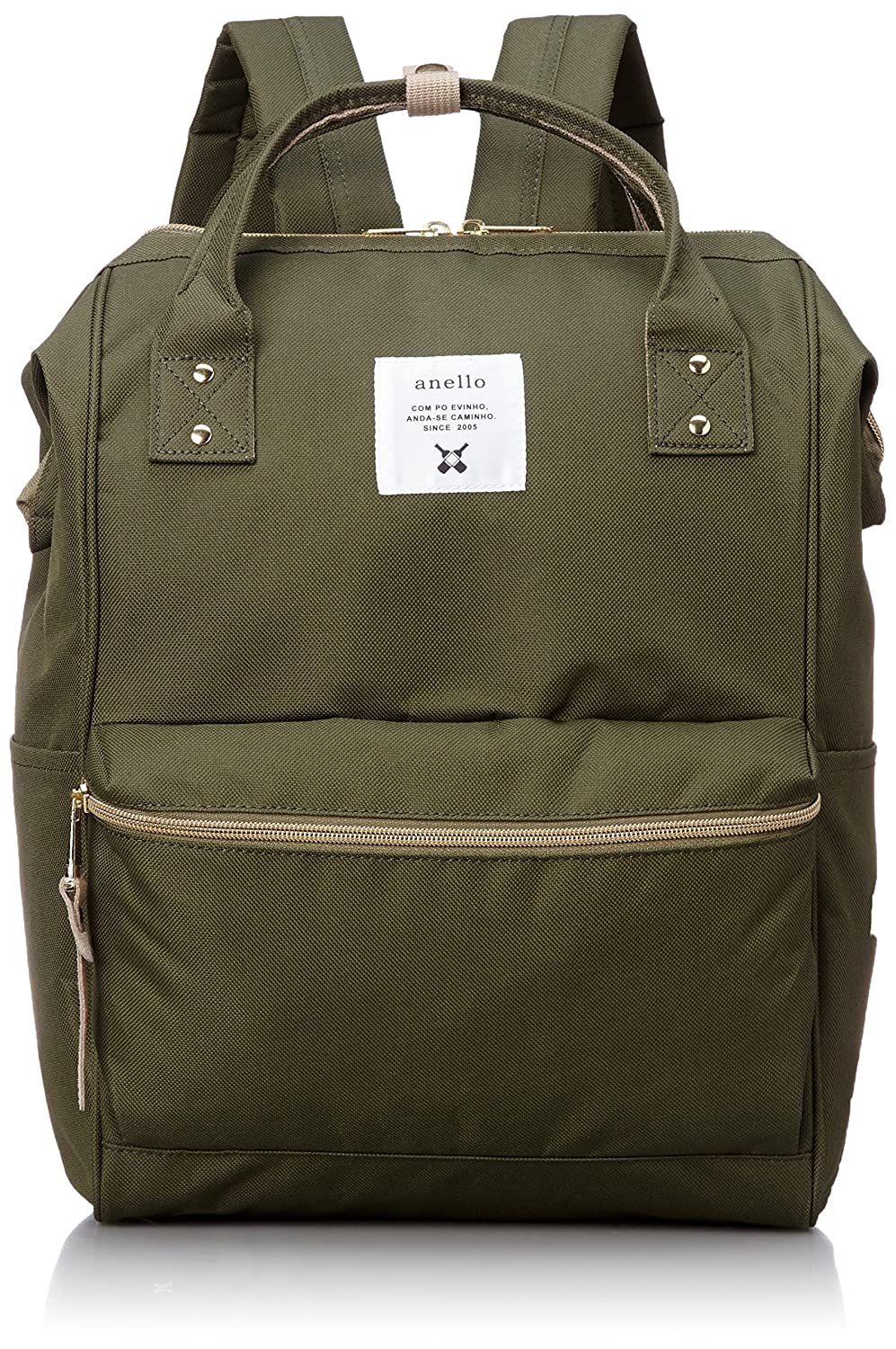 daf5acf6d826 Japan Anello Backpack Unisex LARGE KHAKI Rucksack Waterproof Canvas Bag  Campus School  Amazon.ca  Luggage   Bags