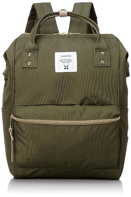 ed0ad94b9d Japan Anello Backpack Unisex LARGE KHAKI Rucksack Waterproof Canvas Bag  Campus School: Amazon.ca: Toys & Games