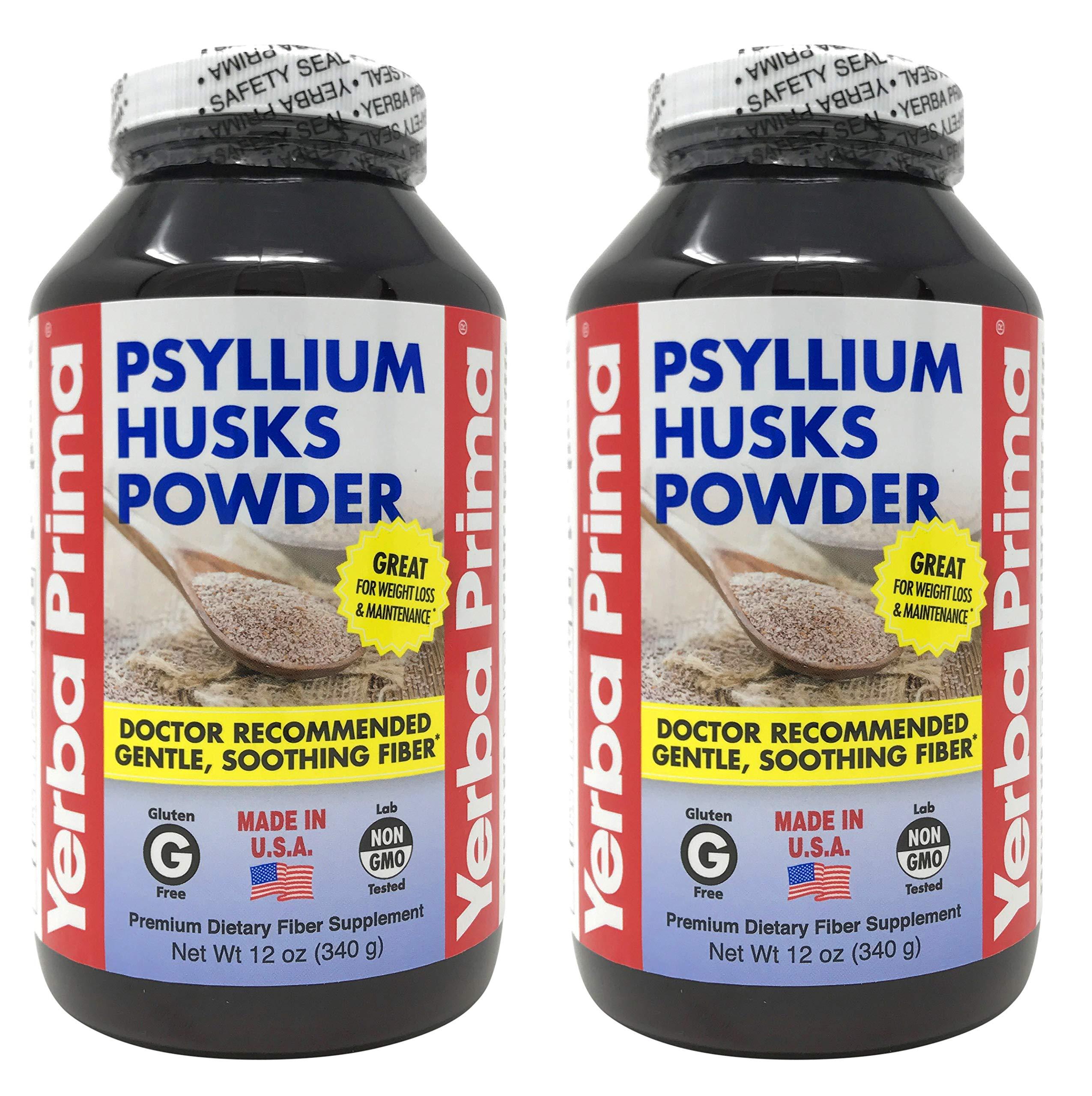 Yerba Prima Psyllium Husks 12 oz (Pack of 2)