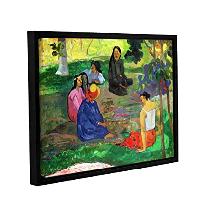 ArtWall Paul Gauguins Les Parau The Gossippers Gallery Wrapped Floater Framed Canvas