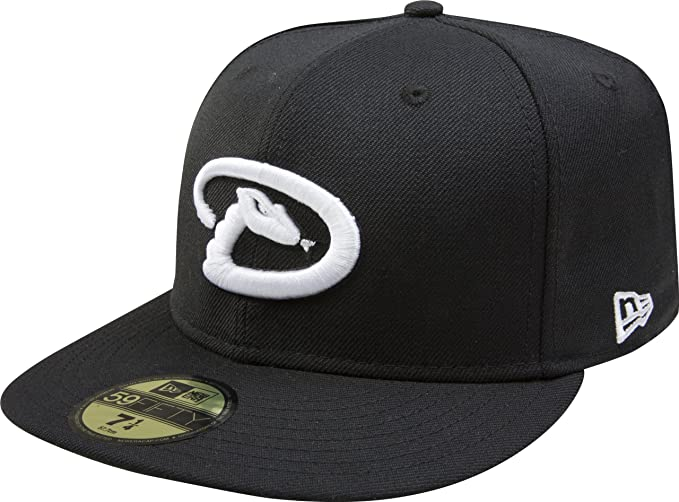 91d64c6f1 New Era MLB Black with White 59FIFTY Fitted Cap