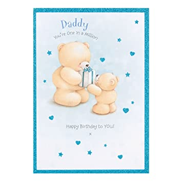 Amazon Daddy One In A Million Forever Friends Birthday Card