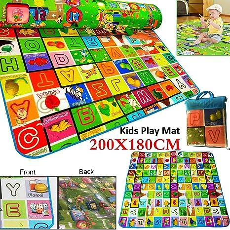 Extra Large Soft Foam Baby Kids Educational Toddler Floor Play Mat Crawl Blanket