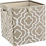ClosetMaid 16088 Premium 2-Handle Storage Bin, Graystone Print