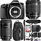 Canon EOS 80D DSLR Camera with EF-S 18-55mm f/3.5-5.6 IS STM and EF-S 55-250mm f/4-5.6 IS STM Lens w/Advanced Photo and Travel Bundle