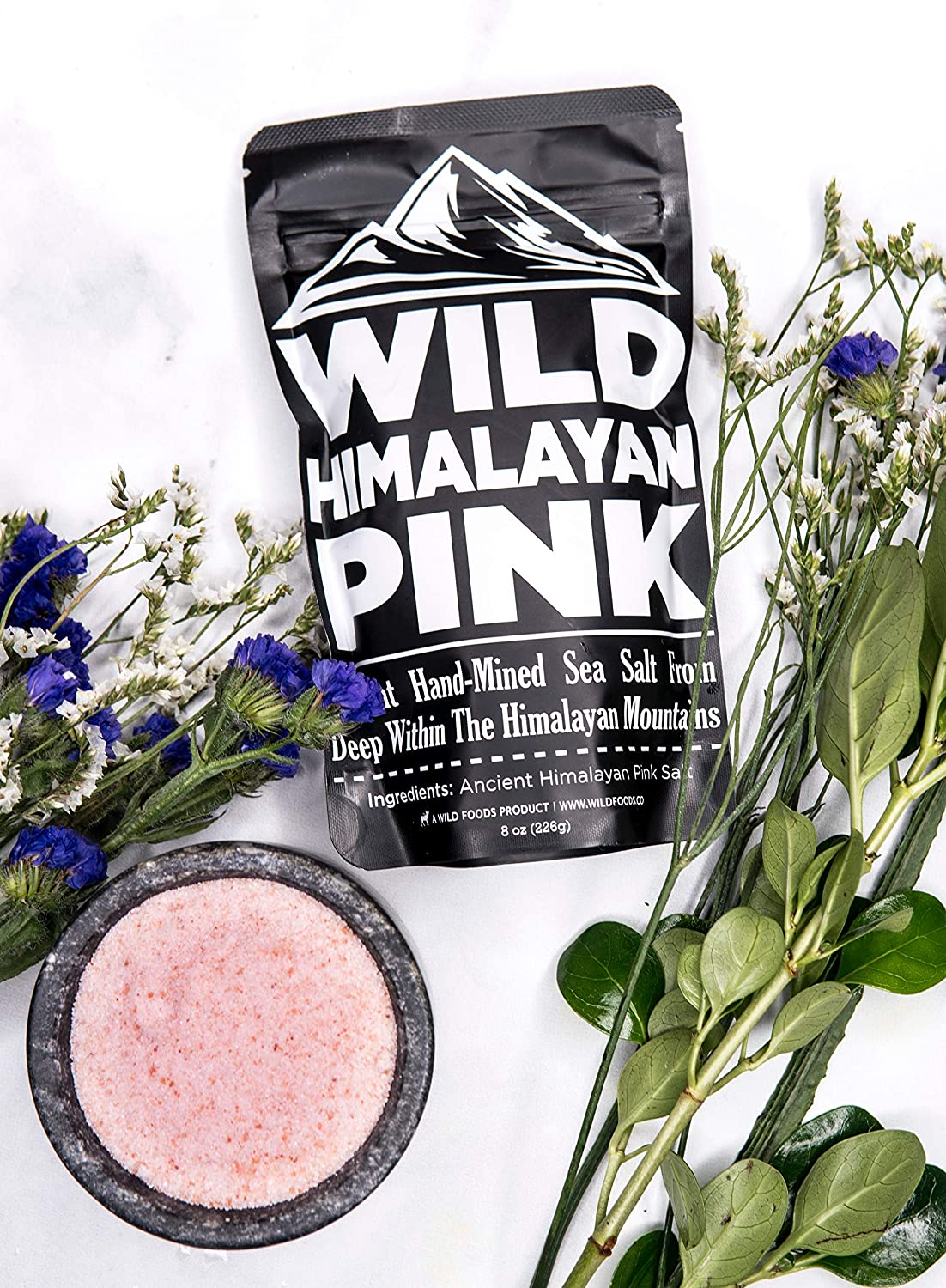 Wild Himalayan Pink Salt Fine Grain 100% Natural Hand-Mined Unrefined Pink Salt