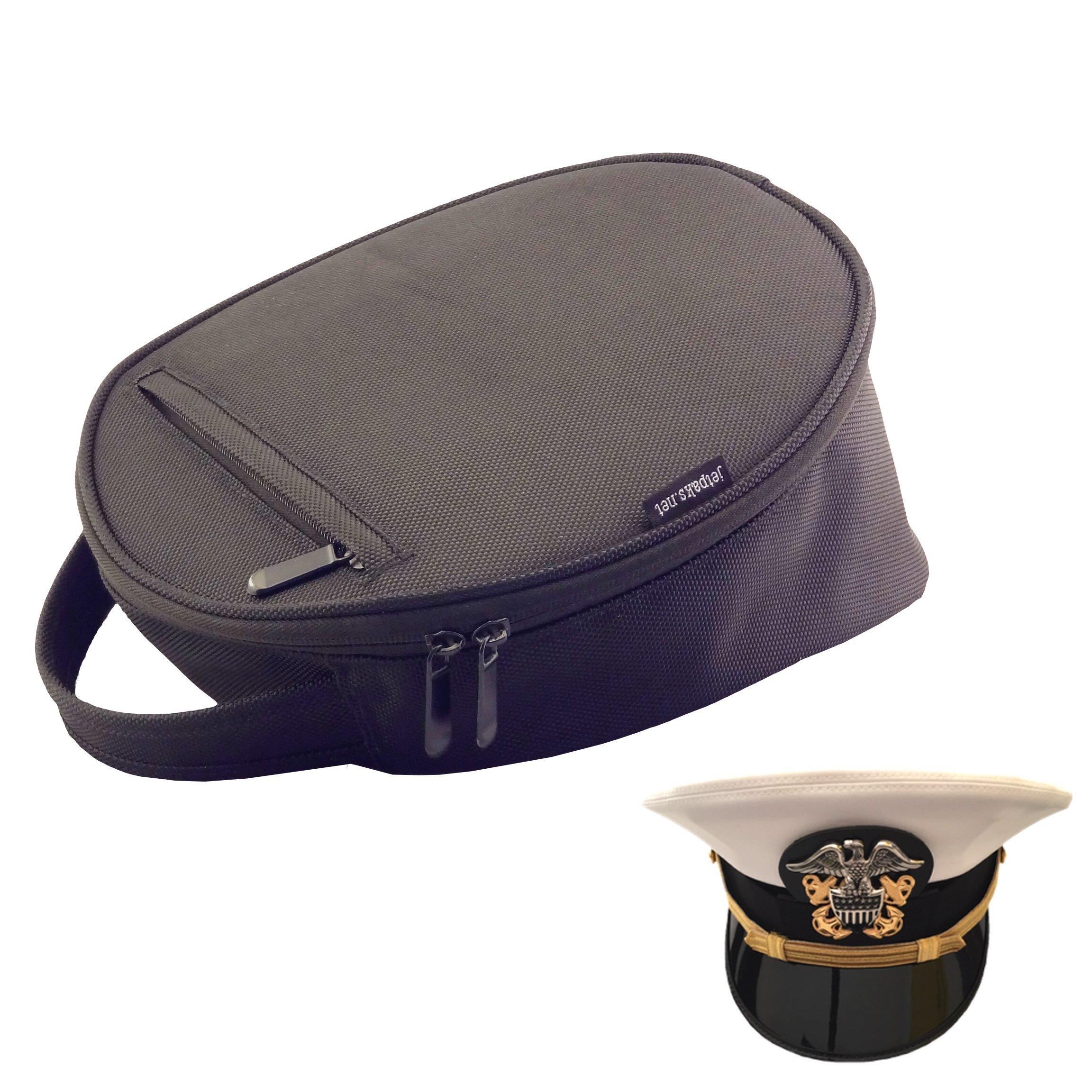 JetPaks.net HatPak Uniform Hat and Cap Travel Carrying Case - Large - Black by JetPaks.net