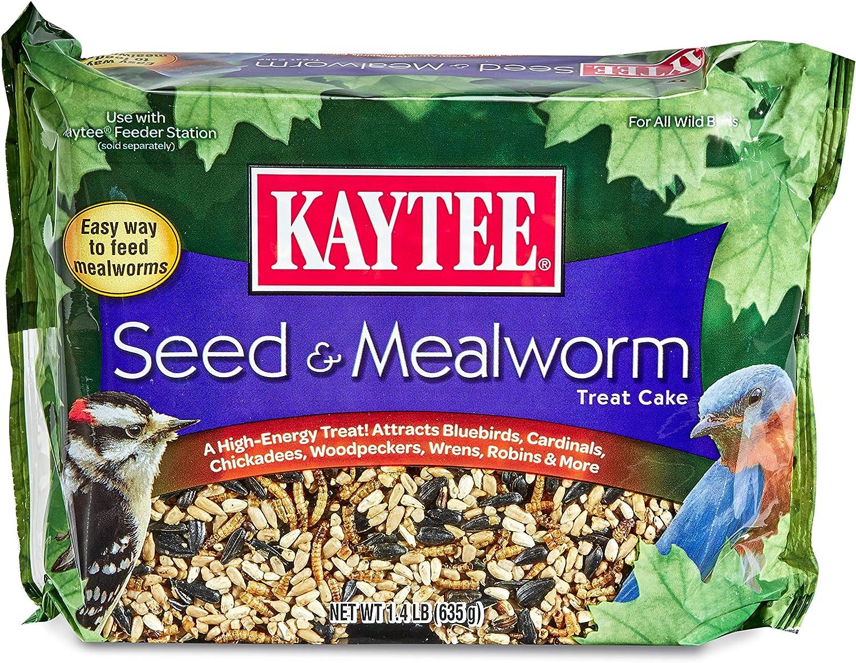 Kaytee Seed & Mealworm Treat Cake, 1.4 lb