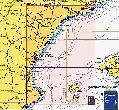Navionics Plus Small MicroSD/SD Barcelona - Benidorm: Amazon.es: Deportes y aire libre