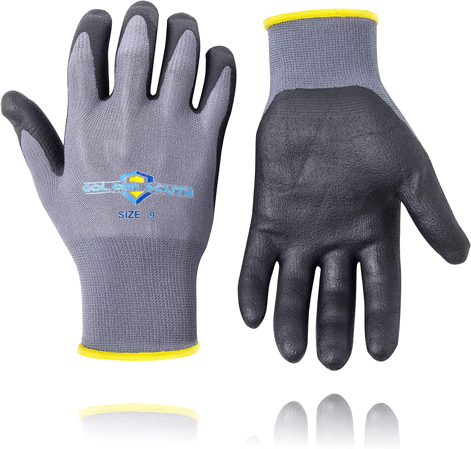 Ultra Tech Seamless Nitrile Foam Work Safety Gloves Construction Assembly Small