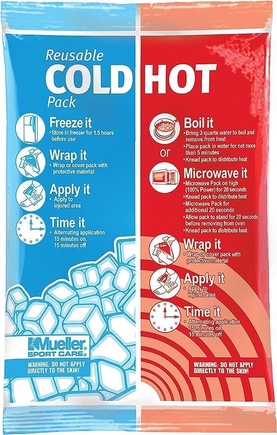 Mueller Compresa De Frío/Calor, Reutilizable, Regular, Caja Frío y calor reutilizable, Unisex adulto, Azul, 14 x 21,6cm: Amazon.es: Deportes y aire libre