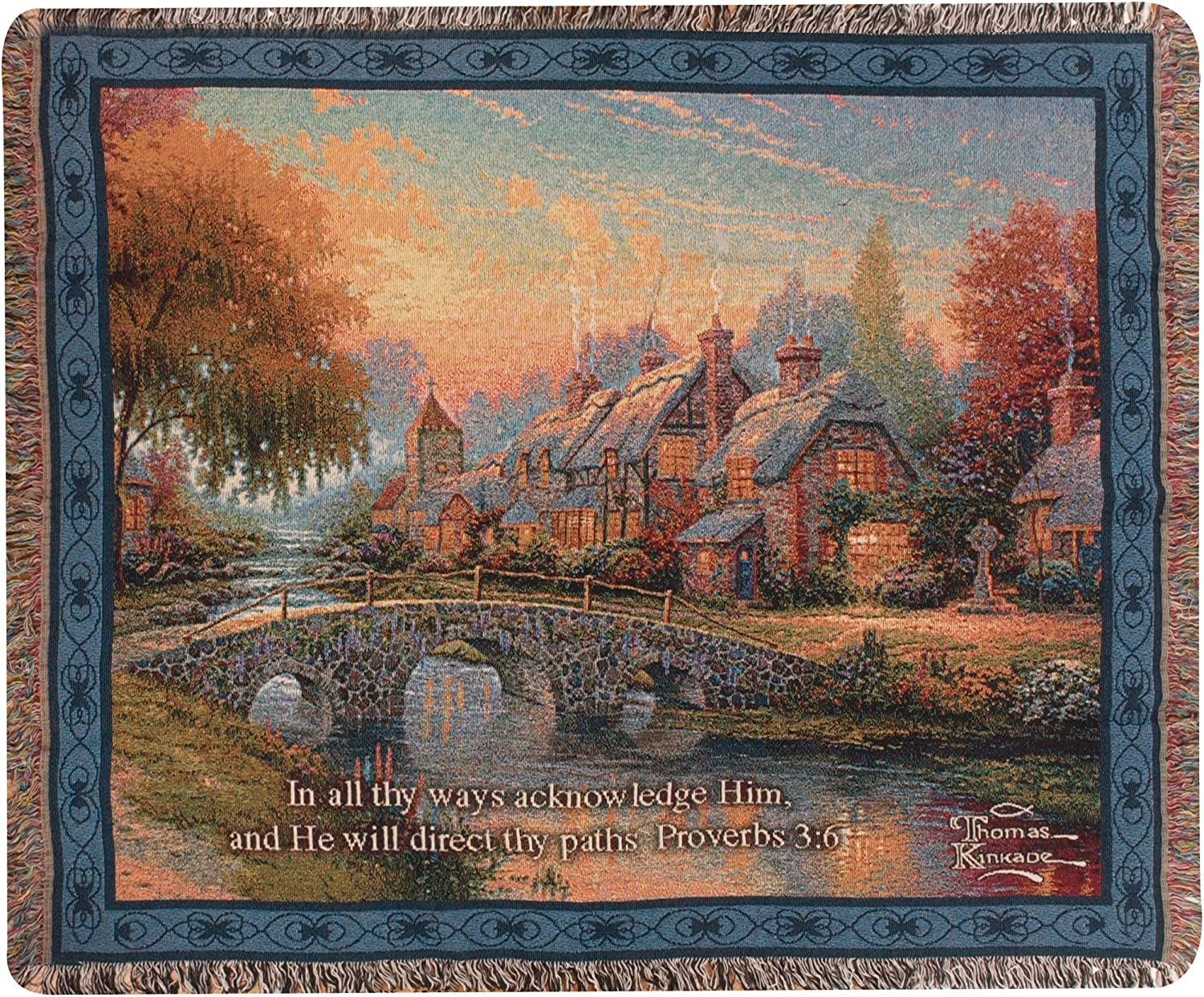 Manual Woodworker Manual Woodworkers /& Weavers Hope Multicolor Tapestry Throw