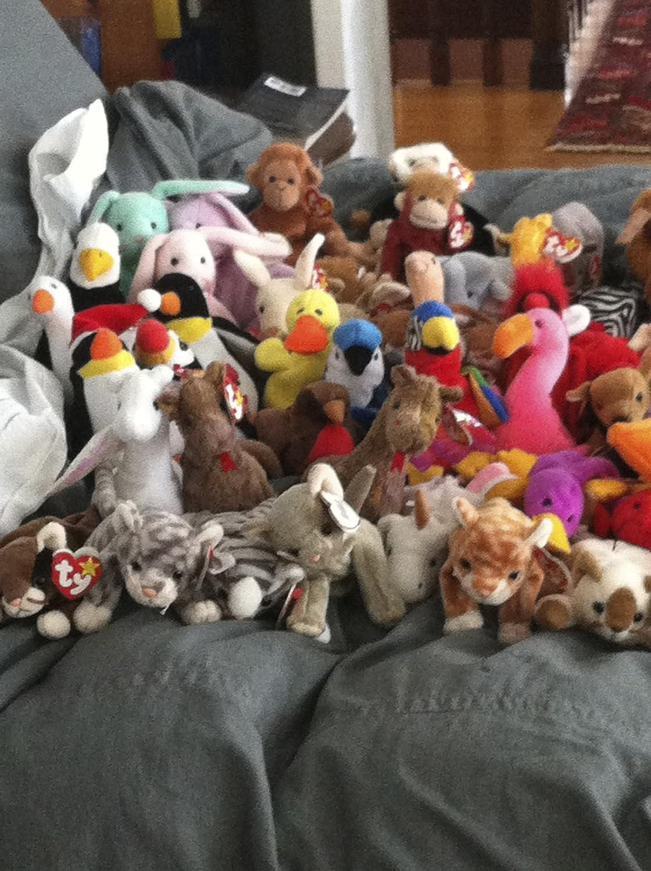 6e5f6907035 Amazon.com  Lot of 134 Beanie Babies   Various Teenie Beanie Babies  Toys    Games