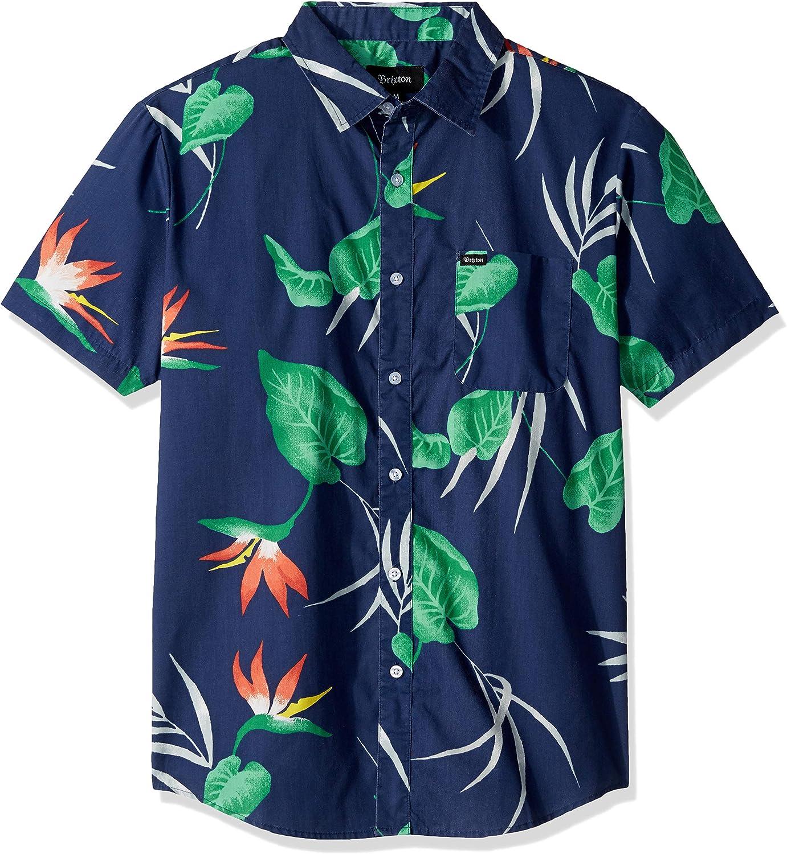 BRIXTON Charter Standard Fit Short Sleeve Print Woven Shirt Camisa Abotonada para Hombre: Amazon.es: Ropa y accesorios