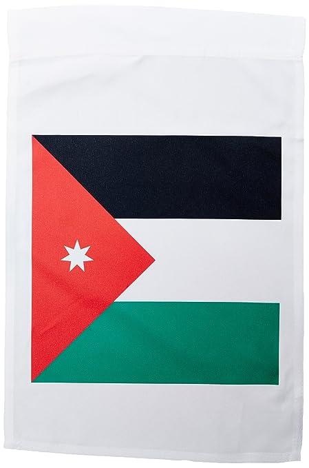 Amazon Com 3drose Fl 158345 1 Flag Of Jordan Jordanian Red Black
