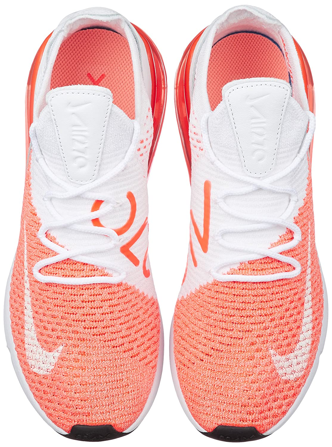 uk availability ee383 fdd46 NIKE Women's WMNS Air Max 270 Flyknit, Crimson Pulse/White, 6 US