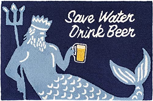 Liora Manne Frontporch Indoor Outdoor Rug, 2 x 3 , Save Water Drink Beer