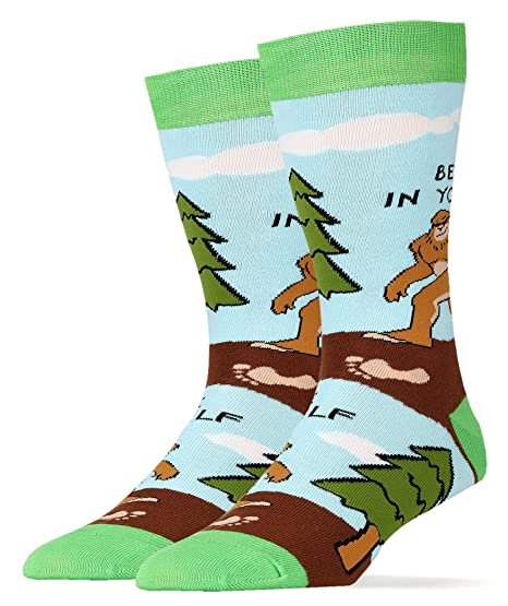 fa43077c3728 Amazon.com: Oooh Yeah Mens Funny Novelty Bigfoot Socks: Clothing
