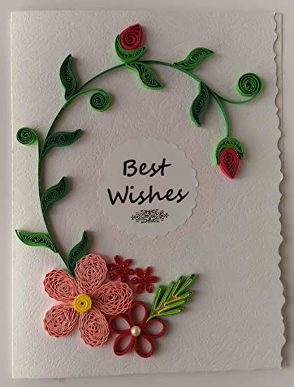 Card in colour handmade best wishes greeting card amazon home card in colour handmade best wishes greeting card m4hsunfo