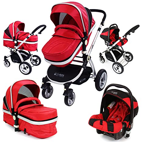 i-Safe sistema - rojo Trio sistema de viaje Cochecito de bebé y ...