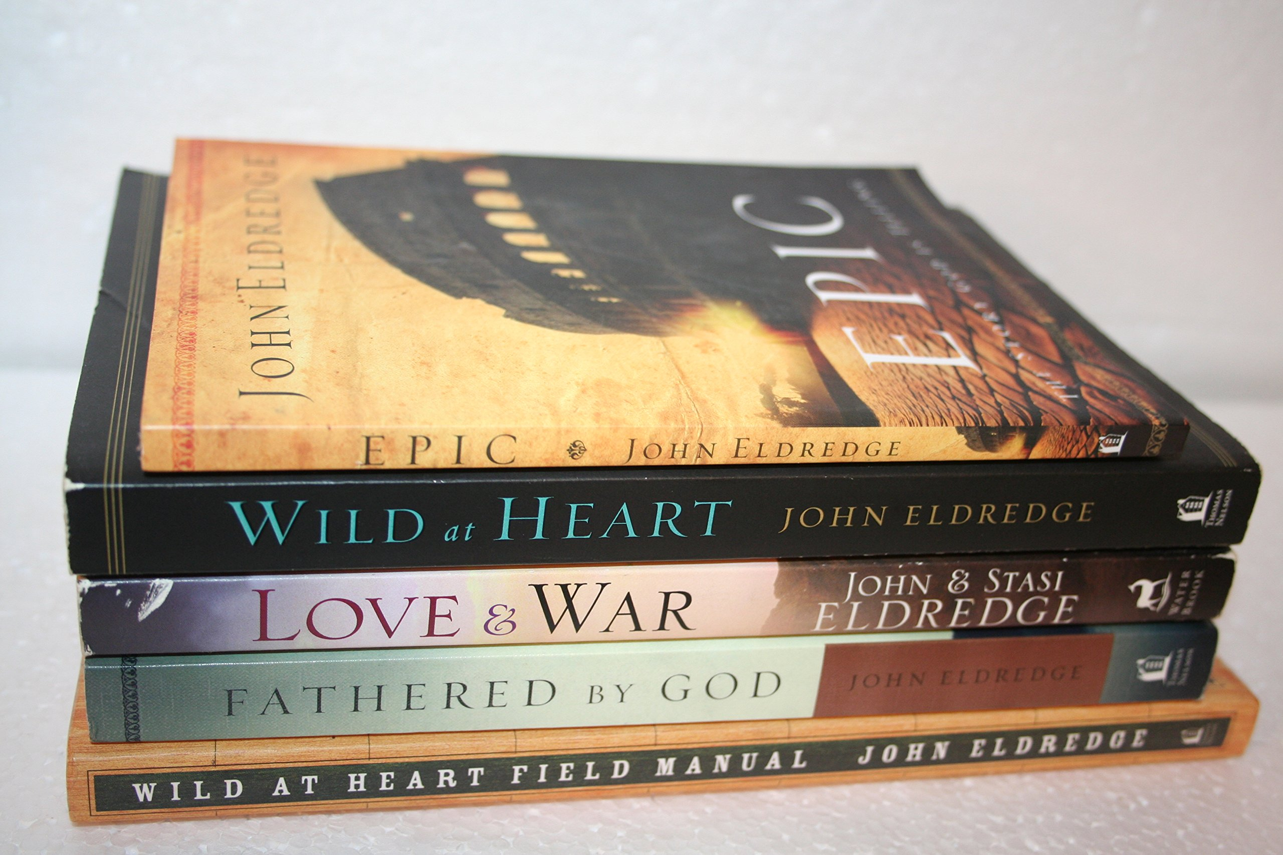 Collection of 5 John Eldredge Books {Epic, Wild at Heart, Love & War,  Fathered by God & Wild at Heart Field Manual}: John Eldredge: Amazon.com:  Books