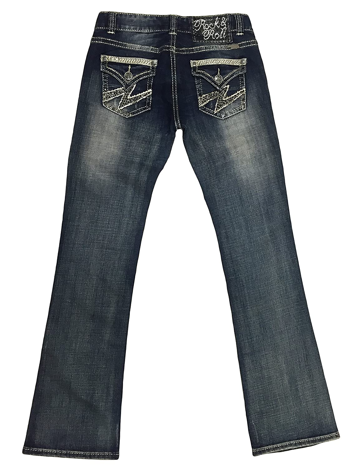 Rock and Roll Cowgirl W0-2238 Embroidered Bootcut Jeans