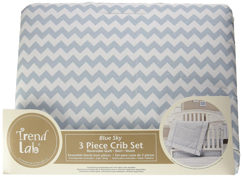 Amazon Com Trend Lab Blue Sky 3 Piece Crib Bedding Set Baby