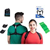 Posture Corrector with Armpit Pads by Anyandsor | Comfortable Posture Brace for Women and Men with Resistance Band & carry bag bonus in a Gift-Box | Back Straightener for injury rehab slouching