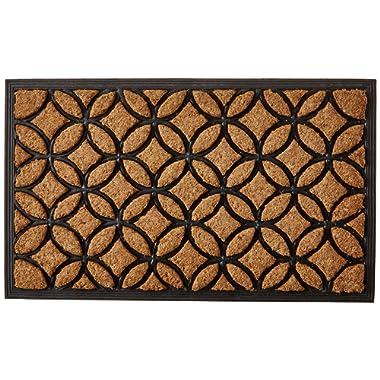 Calloway Mills 100171830 Circles Doormat, 18  x 30 , Natural/Black