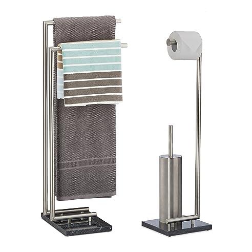 2 Tlg. Badezimmer Set Pierre, Handtuchhalter Ohne Bohren