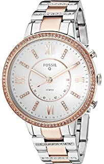 129239375f930 Fossil Q Women s Virginia Two-Tone Stainless Steel Hybrid Smartwatch,  Color  Rose Gold