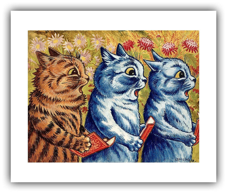 50f3f41463b Amazon.com  Renfield s Fine Art - Louis Wain     Three Cats Singing    (1925 1939) - Giclee Fine Art Print  Posters   Prints