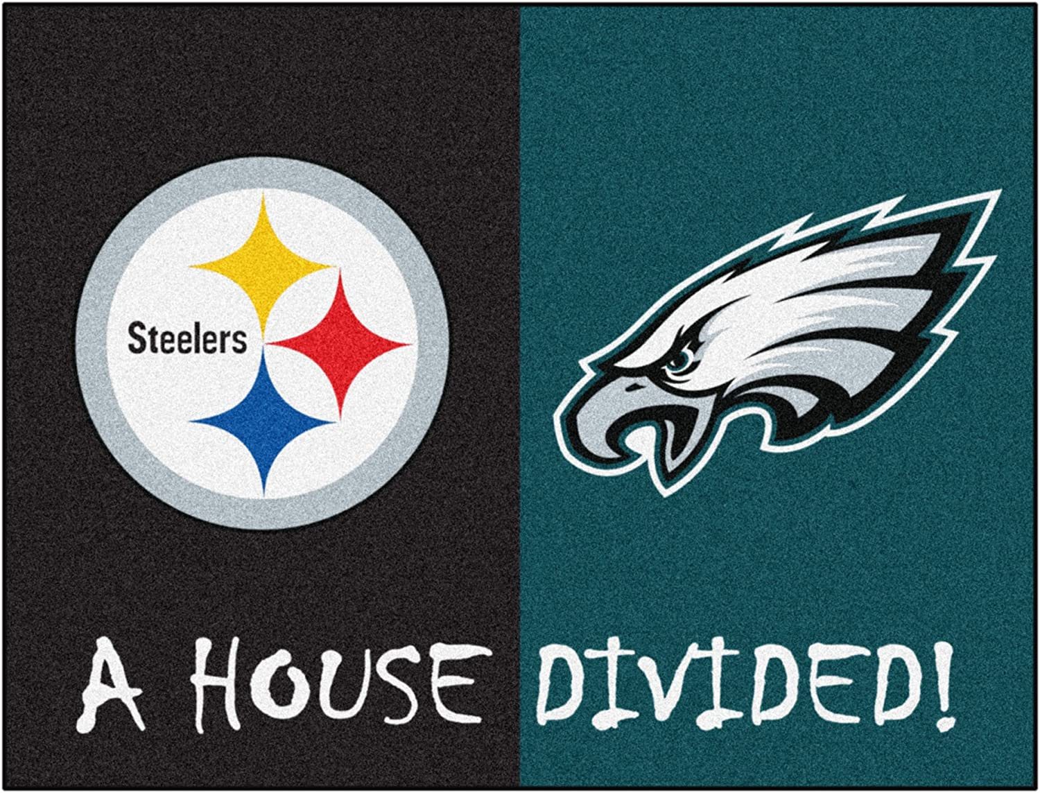 FANMATS 17113 NFL House Divided Steelers/Eagles House Divided Mat