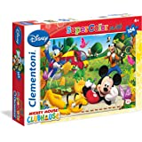 Clementoni - 23974 - Puzzle - Maxi - Mickey Club House - 104 Pièces