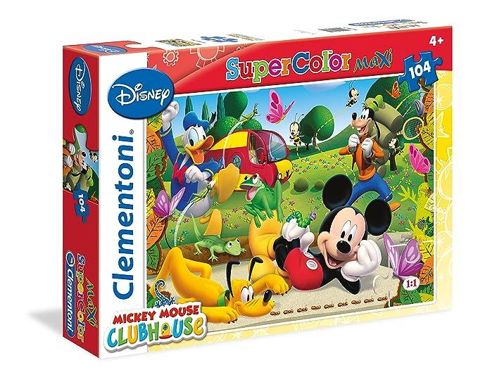 1 opinioni per Clementoni 23974- Puzzle Mickey Mouse Club House, 104 Maxi Pezzi, Multicolore