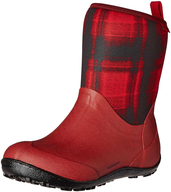 Columbia Women's Snowpow Mid Print Omni-Heat Snow Boot B0183QA19W 6.5 B(M) US|Red Dahlia/Black