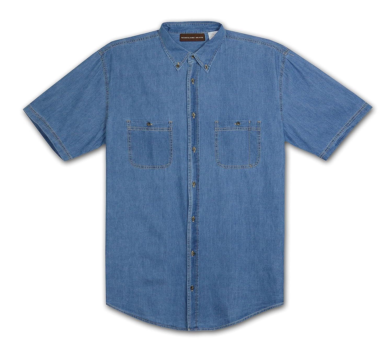 Davis Woodland Trail Big and Tall Enzyme Washed Denim Shirt